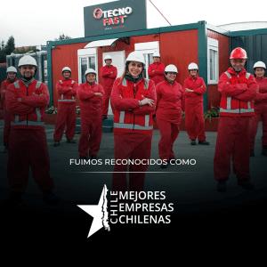 Tecno Fast es reconocida como una de las Mejores Empresas Chilenas